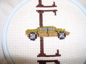 E golden brown car