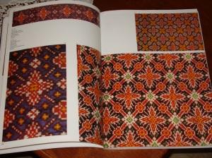 Ikat weave pattern