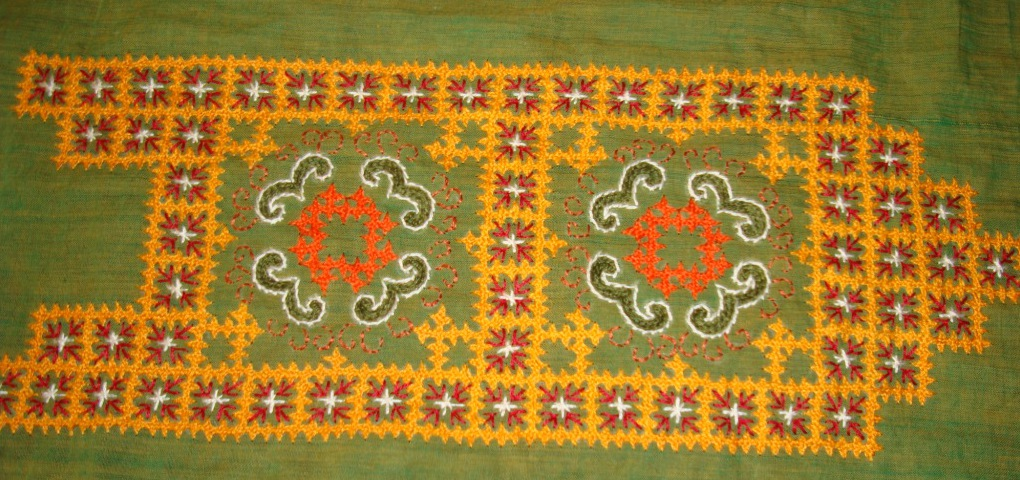 Green Yoke In Kutch Embroidery 2 Yoke Jizee6687s Weblog