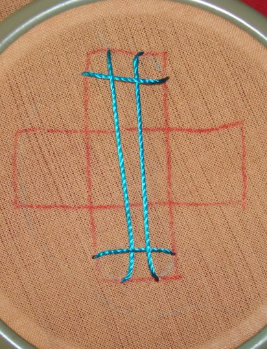 Kutchwork  tutorial -2 woven square (5/6)