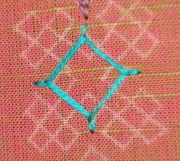 Kutch work tutorial- woven kutchwork motif-2 (2/6)