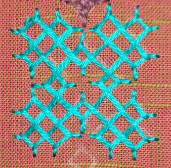 Kutch work tutorial- woven kutchwork motif-2 (4/6)