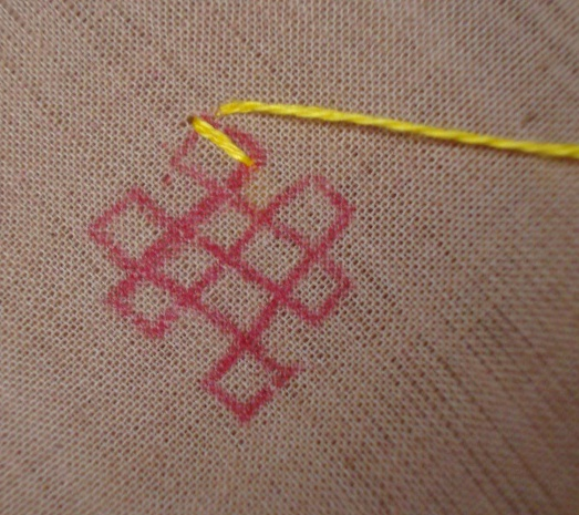 kutch work tutorial- small motif 3 [continuos working] (3/6)