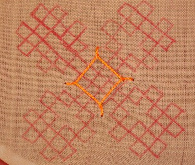 Kutchwork tutorial –Large motif1.  level-intermediary (3/6)