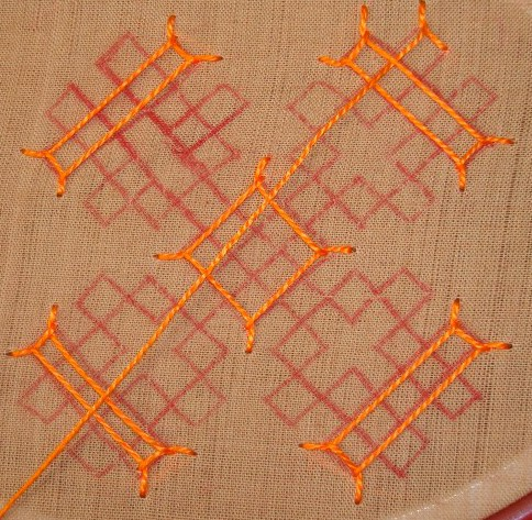 Kutchwork tutorial –Large motif1.  level-intermediary (6/6)