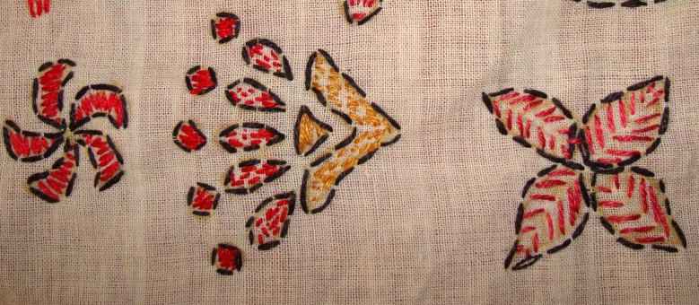 TAST 2012 Week 10-running stitch-7 kantha embroidery (1/6)