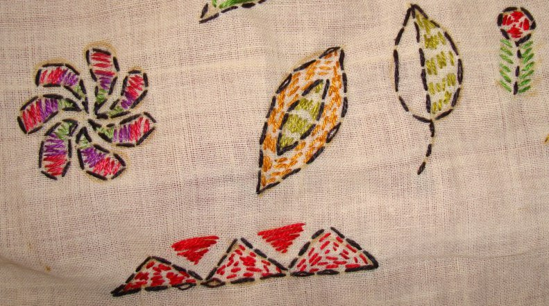 TAST 2012 Week 10-running stitch-7 kantha embroidery (2/6)