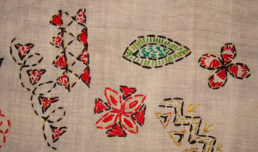 TAST 2012 Week 10-running stitch-7 kantha embroidery (3/6)