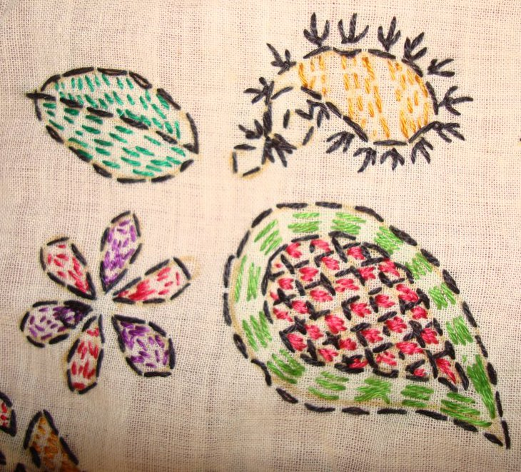 TAST 2012 Week 10-running stitch-7 kantha embroidery (4/6)