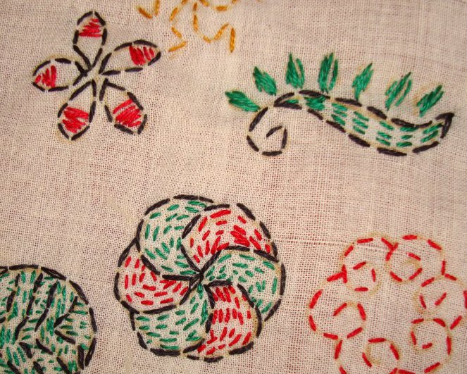 TAST 2012 Week 10-running stitch-7 kantha embroidery (5/6)