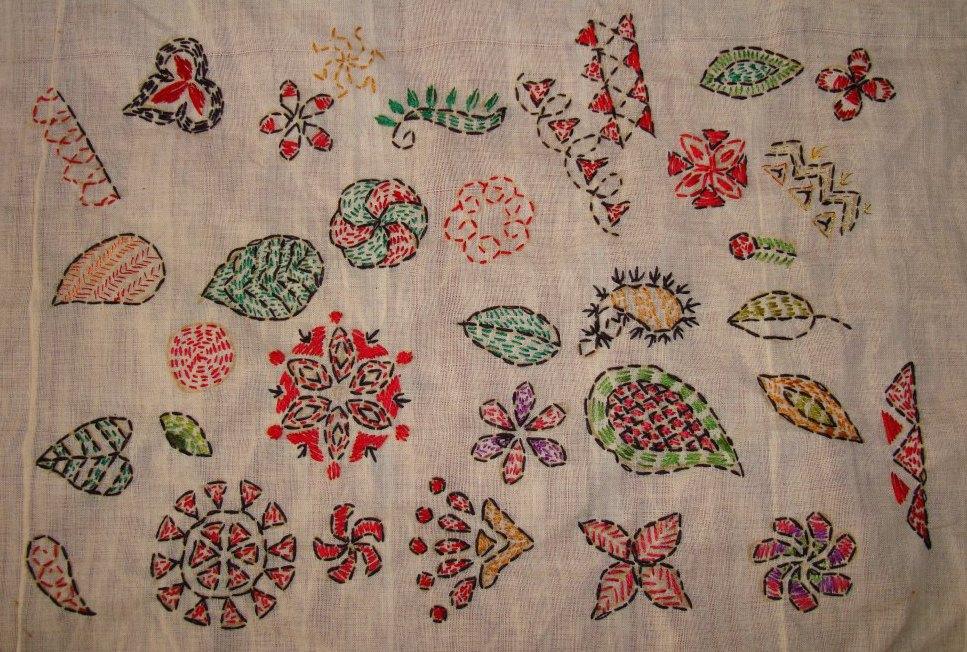 Tast 2012 Week 10 Running Stitch 7 Kantha Embroidery Jizee6687s