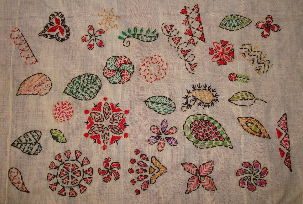 TAST 2012 Week 10-running stitch-7 kantha embroidery (6/6)