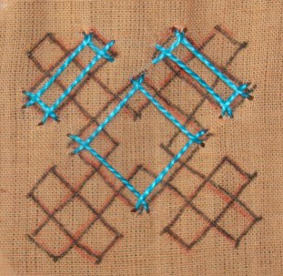 Kutch work tutorial. Woven motif-8 (6/6)