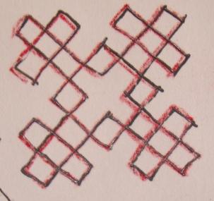 Kutch work tutorial. Woven motif-8 (1/6)