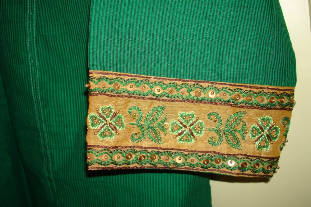Embroidery, tunic, border pattern, bead work,own design (5/6)