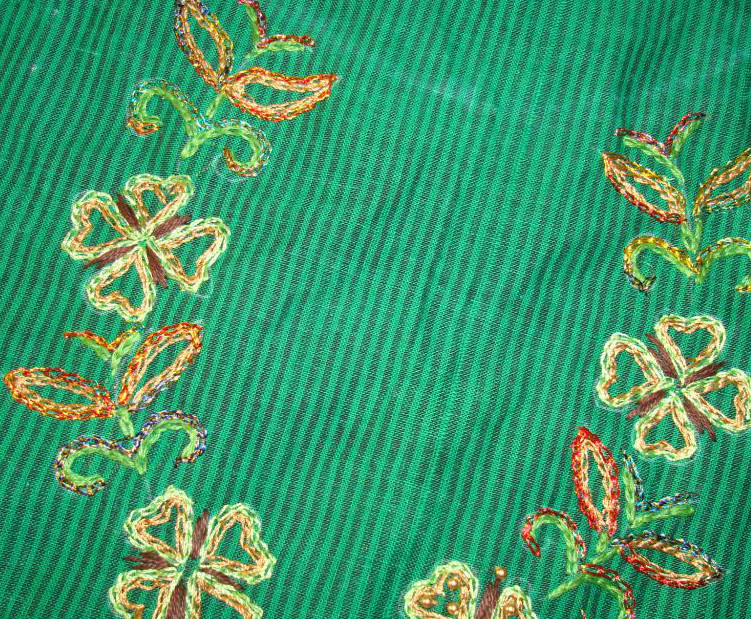 Embroidery, tunic, border pattern, bead work,own design (1/6)