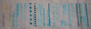 12.60.diamond stitch sampler