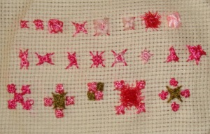 14.62.raised cross stitch flower-sampler1