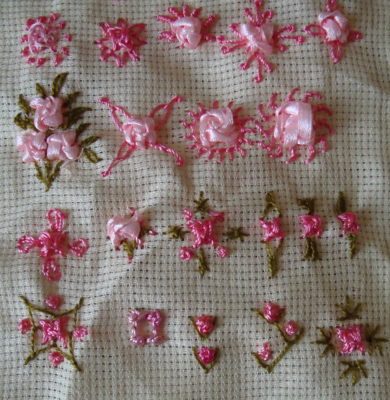 Raised cross stitch flower jizee s we