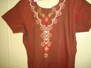 cream kutchwork on brown tunic-1