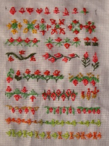 20.68.slipped detached chain stitch sampler