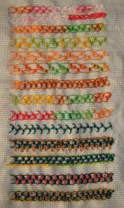 21.69.buttonhole double chain stitch sampler