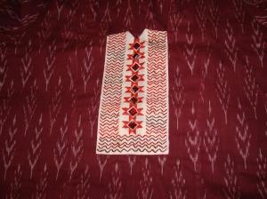 maroon ikat-ceam yoke-tunic1