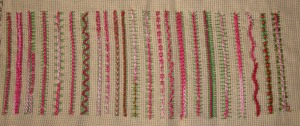 33.81.raised chain stitch2 sampler