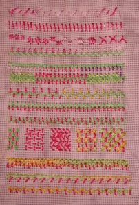 41.89.twisted satin stitc sampler