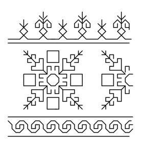 lagartera border pattern