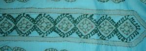 blue green chikan work tunic-=centre