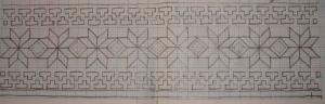 maroon and black-sleeve pattern