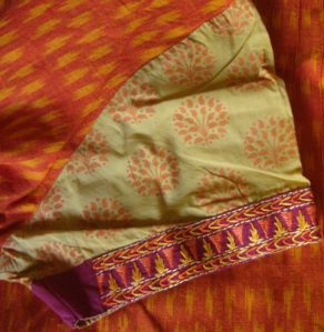 orange yellow ikat printed sleeves-sleeves
