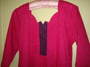 pink blue tunic