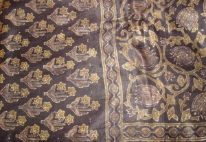 gold black zardosi-stole