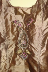 gold black zardosi-tunic