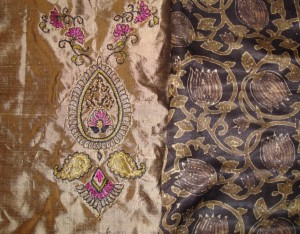 gold black zardosi-with stole