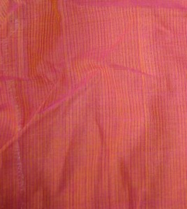 pink yellow kutchwork printed sleeves-tunic fabric