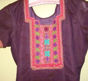 purple tunic woven kutchwork-tunic