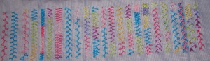 12.106.looped Cretan stitch sampler