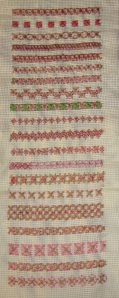 14.108.rice stitch sampler
