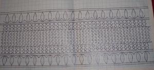 bagh border on coptunic-sleeve pattern