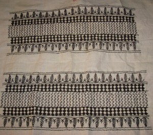 bagh border on coptunic-emb on sleeves