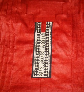 bagh border on coptunic-yoke detail