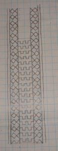 bagh border on coptunic-yoke pattern