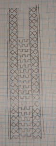 bagh border on coptunic-yoke pattern