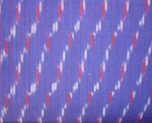 bagh emb on blue ikat-fabric