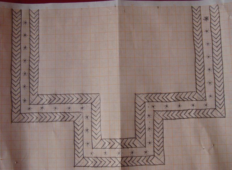 Bagh Embroidery Neckline On Blue Ikat Tunic Jizee6687 S Weblog