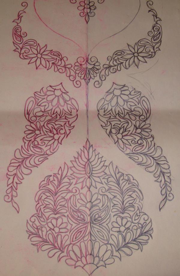 Pink Kashmiri Embroidery On White Tunic Jizee6687s Weblog