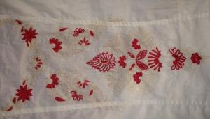 white pink Kashmiri work- WIP